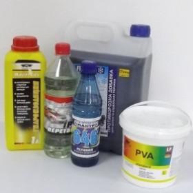 Розчинники, ПВА, рідке скло, гідроізоляція, пластифікатори