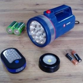 Батарейки, акумулятори, ліхтарики
